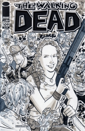 Custom Walking Dead Sketch Cover