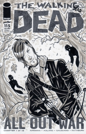 Daryl Dixon Walking Dead Sketch Cover