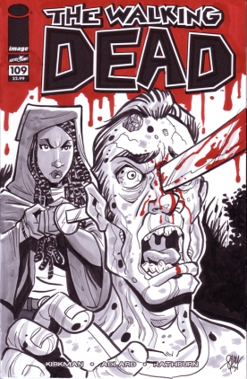 Michonne Walking Dead Sketch Cover