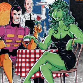 Paste Pot Pete and She-Hulk on a Date
