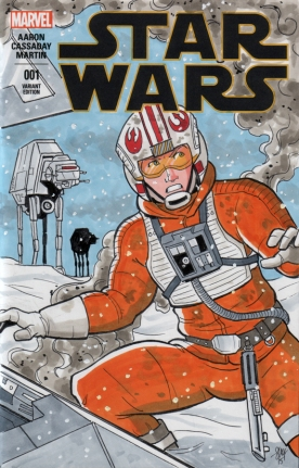 Luke Skywalker Sketch Cover