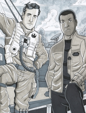 Poe Dameron and Finn