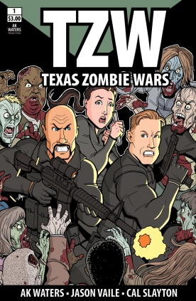 Texas Zombie Wars #1 Cover