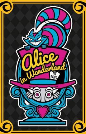 Alice In Wonderland Panto Poster